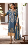 Shirt Embroidered lawn front and Sleeve's Finished With Stitching Details.Back plain Lawn Finished with lace's. Trouser Embroidered Brosha Cotton torouser With Stitching details. Dupatta Brosha lawn Dupatta Finished With Stitching Details.