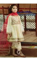 Frock Embroidered fancy tilla  zari lawn front and sleeve's finished with lace's, shisha and stitching details. Trouser Embroidered cotton q lot trouser finished with lace work. Duppata Net dupatta finished with lace's work.