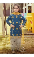 Shirt Embroidered lawn Front and sleeve's Finished with Lace's and stitching details.  Shallwar Embroidered shallwar FINISHED WITH Stitching Details.  Dupatta Net dupatta finished with stitching details.