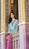 Shirt Embroidered Organza Front 1 m + Embroidered Front Galla 1 pc Embroidered Back 1 m + Embroidered Sleeves 26 Inches Embroidered Front + Back + Sleeves Patti 3 m Inner Shirt 2.50 m Trouser Raw Silk Trouser 2.50 m Duppata Embroidered Net Duppata 2.50 m