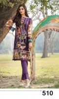 High quality Airjet lawn digital printed embroidered shirts paired with embroidered and digital printed bamber dupattas Dyed Trouser