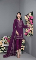 Shirt Embroidered Raw Silk Front And Sleeve With Adda Work Trouser Raw Silk Straight Trouser With Stitching Details Dupatta Embroidered Organza Dupatta