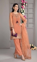 Shirt Embroidered Organza Front And Sleeve With Adda Work And Dori Tassel Plain Organza Back Resham Lawn Inner Attached Trouser Raw Silk Straight Trouser Dupatta Embroidered Organza Dupatta