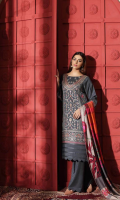 Shirt Embroidered Leather Front 1 m Embroidered Front + Sleeves Patti 2 m Leather Back + Sleeves 2 m Trouser Leather Trouser 2.5 m Shawl Printed Pashmina Shawl 2.5 m