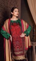 Shirt Marina Printed Front + Back + Sleeves 3.4 m Trouser Marina Trouser 2.5 m Shawl Embroidered Shawl Patti 8 m Embroidered Pashmina Shawl 2.5 m