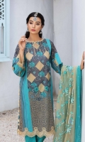 Shirt Lawn Print Front +Back and Sleeve 3.4M Embroidered Front +Back + saleeve Patti 2.5M  Trouser Cotton Trouser 2.5 M  Dupatta Embroidered Chiffon Printed Dupatta 2.5 M