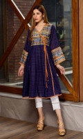 Long Frock Digital Printed Lawn Front back and sleeve's Andarhka long Frock Finished with Lace and Stitching Details.