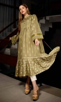 Long Frock Paste Printed Lawn Front back and sleeve's long Frock Finished with Lace and Stitching Details.