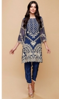 SHIRT  Ready To Wear Embroidered Chiffon Shirt Inner Resham Lawn With Neck Adda Work Finish  TROUSER  Raw Silk Straight Trouser With Indian Lace Finish