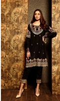 Ready To Wear Raw Silk Heavy Embroidered Shirt Embroidered Long Slim Fitted Sleeve's With Tilla Tassal Resham Lawn Inner Raw Silk Straight Trouser With Embroidered Patch Finished