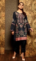 Ready To Wear Raw Silk Heavy Embroidered Shirt Resham Lawn Inner Adda Work Button Adda Work On Sleeve's Opening Staight Raw Silk Trouser Bottom With Pentex Finished