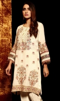 Ready To Wear Raw Silk Fabric Embroidered Shirt With Adda Work On  Center Neck Patti & Sleeve's Opening Resham Lawn Inner With Pentex & Lace Finished Raw Silk Staight Trouser