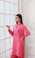 Shirt Brosha Leather Front/Back And Sleeves With Stitching Details  Shalwar Plain Leather Shalwar