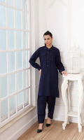 Shirt Crabe Leather Front/Back And Sleeves with Stitching Details Shalwar Crabe Leather Shalwar