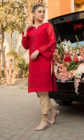 Ready To Wear Karandi Silk Shirt With Organza Embroidered Patti On Neck And Sleeves With Shisha Work & Adda Work  Inner Resham Lawn Pentex On Front Daaman  Organza Fashion Attached On Daaman With Organza Fray Edge's On Front Panels.