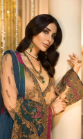 Shirt Embroidered Front Chiffon 1 m Embroidered Back 1 m Embroidered Sleeves 26 Inches Back Daman Patti 2 m + Inner Shirt 1.5 m Embroidered Front Neck + Trouser Patti 2.5 m Trouser Raw Silk Trouser 2.5 m Trouser Patti 2.50 m Duppata Embroidered  Net Duppata 2.5 m Finishing Patti 0.50 m