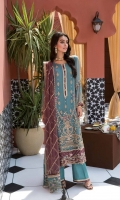 Shirt Embroidered Adda Work Chiffon Front Shirt 1 m Embroidered Adda Work Chiffon Sleeves 26 inches Embroidered Chiffon Back 1.4 m Embroidered Adda Work Daman Patti Front 30 inches Embroidered Daman Patti Back 30 inches Inner Shirt 1.75 m Trouser Raw Silk Trouser 2.5 m Duppata Embroidered Duppata Patti 2 m Embroidered Duppata Patti 8 m Embroidered Net Duppata 2.5 m