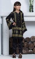 Shirt: Premium Cotton silk Shirt shirt embellished with lace and Block print  Pant: Rawsilk pants  Dopatta: Screen print Net dopatta embellished with fringe lace.