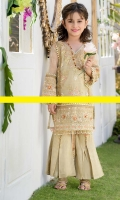 Premium embroidered Khadi Shirt embellished with 3D handwork of crystals French knots, kora and sequins with detailed gharara pants