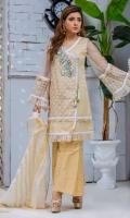 Shirt: Premium Embroidered Organza Angrakha embellished with handwork of pearls and 3D motif with laces  Pant: Jamawar Gharara pants  Dopatta: Self Print Khadi Dopatta
