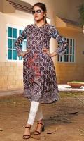 Printed Front, Back & Sleeves Square Neck Full Sleeves Full Length 42″