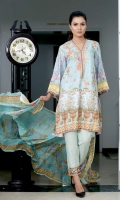 Viscose Digital Printed shirt  Back Printed  Embroidered Crinkle Chiffon Dupatta  Dyed Trouser