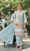Embroidered Neck Patch Daman Patch Trouser Cotton Jacquard Dupatta Cotton Jacquard