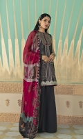 SHIRT (2.5M)  DIGITAL PRINTED LAWN SHIRT  EMBROIDERED PATTI FOR SHIRT HEM  TROUSER (2.5M)  DYED CAMBRIC TROUSER  DUPATTA (2.5M)  DIGITAL PRINT CRINKLE CHIFFON DUPATTA