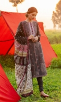 SHIRT (2.5M)  DIGITAL PRINTED LAWN SHIRT  1 EMBROIDERED NECKLINE  TROUSER (2.5M)  DYED CAMBRIC TROUSER  DUPATTA (2.5M)  DIGITAL PRINT LAWN DUPATTA