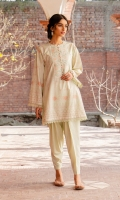 SHIRT (2.5M)  DIGITAL PRINTED LAWN SHIRT  1 EMBROIDERED NECKLINE  TROUSER (2.5M)  DYED CAMBRIC TROUSER