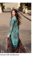 3 Piece Embroidered Suit Velvet Dupatta