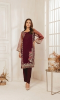 Tissue fabric kurta with floral motif detailing and intricate embroidery on side pannels and sleeves.