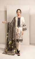 DIGITAL PRINTED EMBROIDERED SHIRT 3 MTRS  DIGITAL PRINTED LAWN DUPATTA 2.5 MTRS  DIGITAL PRINTED CAMBRIC TROUSER 2 MTRS