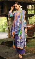 Embroidered Cambric Front 1.15M Printed Cambric Back 1.15M Printed Cambric Sleeves 0 65M Printed Lawn Dupatta 2.50M Dyed Cambric Trouser 2.00M