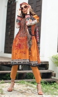 Embroidered Cambric Front 1.15M  Printed Cambric Back 1.15M  Printed Cambric Sleeves 0 65M  Printed Chiffon Dupatta 2.50M  Dyed Cambric Trouser 2.00M