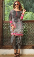 Embroidered Cambric Front 1.15M  Printed Cambric Back 1.15M  Embroidered Cambric Sleeves 0.65M  Printed Chiffon Dupatta 2.50M  Dyed Cambric Trouser 2.00M