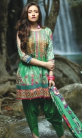 1.1 M Embroidered Front 1.1 M Printed Back 0.6M Embroidered Sleeves 2.5M Printed Dupatta