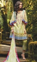 1.1M Embroidered Front 1.1M Printed Back 0.6M Printed Sleeves 2.5M Printed Dupatta 2.5M Printed Trouser