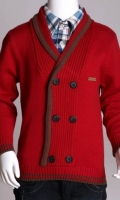 Full Sleeves Stylish Woolen Sweater With Attached Shirt