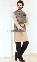 Waistcoat : Indian Batik Fabric Pants: Wash and wear fabric with straight cut pants Shirt: Wash and wear Fabric with thread detail and fabric manipulation