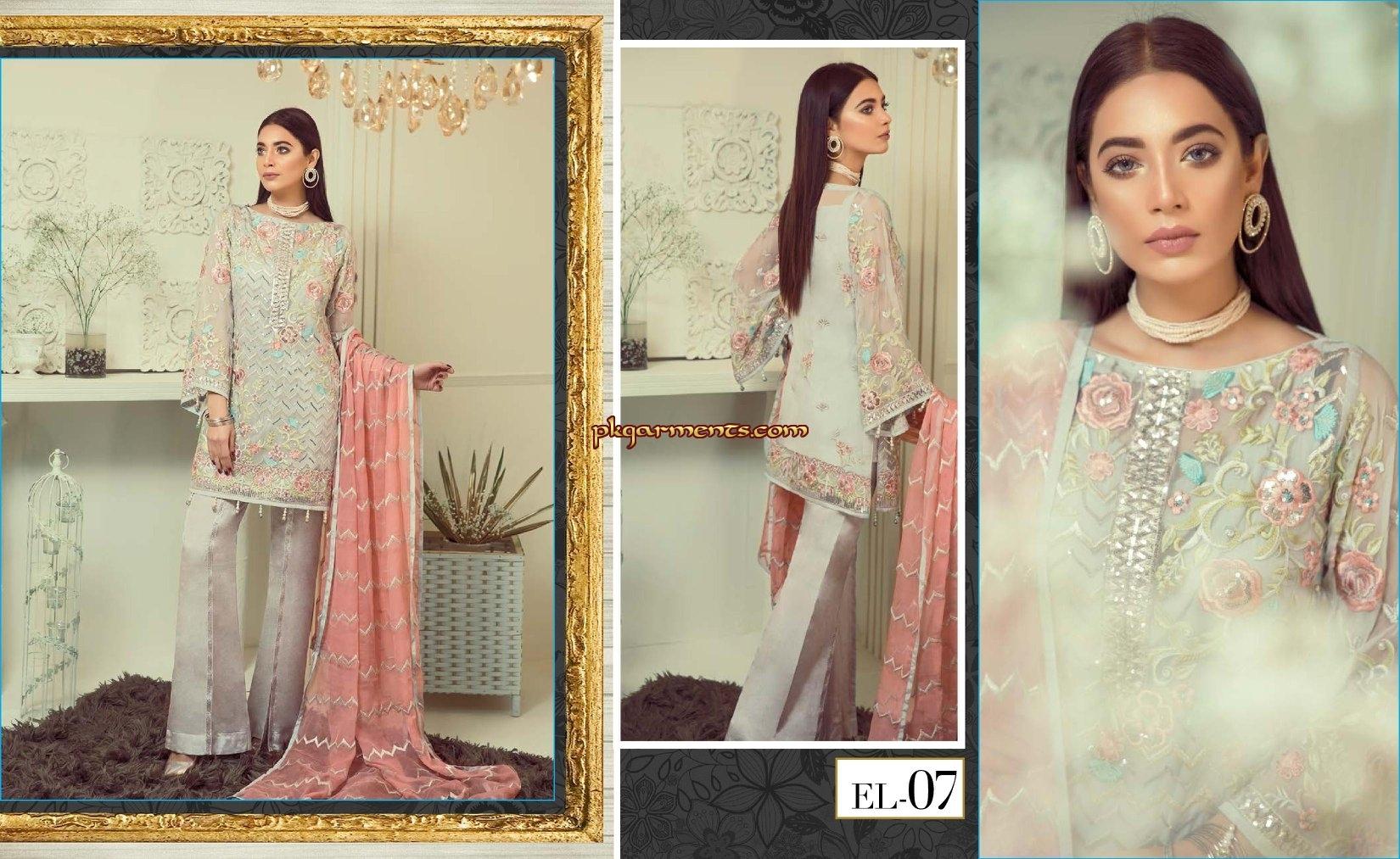 77394a8ff3 Elaf Premium Chiffon Collection 2019 | Pakistani Clothes & Fashion ...