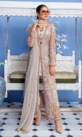 Embroidered Net Hand Made Front Body And Sleeves Embroidered Back Embroidered Chiffon Dupatta Embroidered Trouser patti Patch Grip Trouser & Accessories