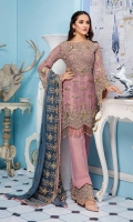 Embroidered Chiffon Front Back Sleeves And Dupatta Embroidered Front Back Daman Patch Embroidered Trouser Patch Grip Trouser & Accessories