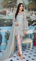 Embroidered Hand Made Net Front And Sleeves Embroidered Back Embroidered Chiffon Dupatta Embroidered Front Patti Jamawar Trouser & Accessories