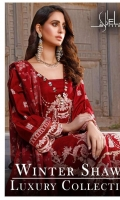 Embroidered Self Linen Front 1.15 MTR  Embroidered Self Linen Back 1.15 MTR  Embroidered Self Linen For Sleeves 0.75 MTR  Embroidered Organza Border For Sleeves 1 MTR  Embroidered Organza Border For Hem 1.5 MTR  Viscos Jacquard Shawl 2.5 MTR  Dyed Linen Trousers 2.5 MTR