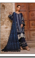 Embroidered Self Linen Front 1.15 MTR  Embroidered Self Linen Back 1.15 MTR  Dyed Self Linen Sleeves 0.65 MTR  Embroidered Organza Border For Front Hem 30 Inches  Embroidered Velvet Border 1 MTR  Embroidered Trouser Border On Organza 0.75 MTR  Viscos Jacquard Shawl 2.5 MTR  Dyed Linen Trouser 2.5 MTR