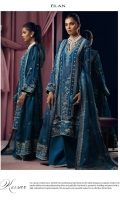 EMBROIDERED DUPATTA (PURE ORGANZA) 2.50 METERS EMBROIDERED DUPATTA PALLU (PURE ORGANZA) 02 PIECES EMBROIDERED DUPATTA BORDER (SATIN SILK) 5.00 METERS EMBELLISHED EMBROIDERED SHIRT FRONT (PURE CHIFFON) 1.20 METERS EMBROIDERED SHIRT BACK (PURE CHIFFON) 1.20 METERS EMBELLISHED EMBROIDERED SLEEVES (PURE CHIFFON) 0.60 METERS EMBROIDERED SIDE EXTENSIONS FRONT (PURE CHIFFON) 02 PIECES EMBROIDERED SIDE EXTENSIONS BACK (PURE CHIFFON) 02 PIECES DYED SLIP (RAW SILK) 2.00 METERS DYED TROUSER (RAW SILK) 2.50 METERS EMBELLISHED EMBROIDERED FRONT NECKLINE (SATIN SILK) 01 PIECES EMBROIDERED BACK NECKLINE (SATIN SILK) 01 PIECES EMBROIDERED FRONT & BACK PATCH (POLY ORGANZA) 02 PIECES EMBROIDERED SLEEVES BORDER (SATIN SILK) 1.00 METERS