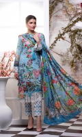 Embroidered Neck Line Digital Printed Lawn Shirt: 2.8 metre Digital Printed Lawn Dupatta: 2.5 yards Cambric Printed Trouser: 2.5 yards