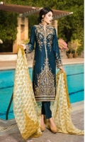 Three Piece Embroidered Twill Suit