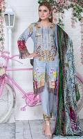 Digital Front Embroiderd :- 1.25m Digital Back Sleeves :- 1.75m Velvet Shawl :- 2.5 Yards Embroiderd Motifs 2 Pisces